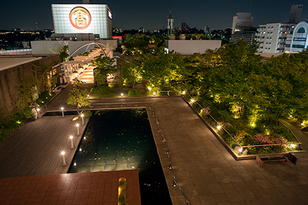 玉川高島屋 屋上庭園の夜景
