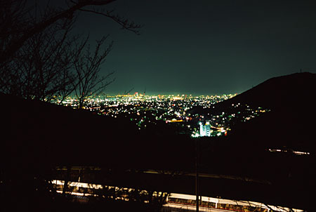 多米峠の夜景