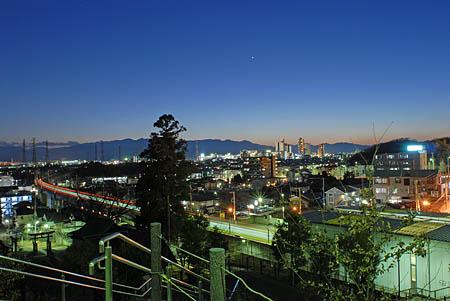 小山多摩境公園の夜景