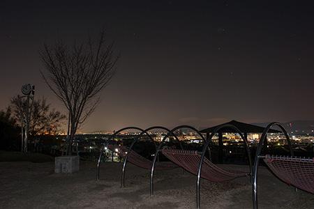 田辺公園 展望広場の夜景