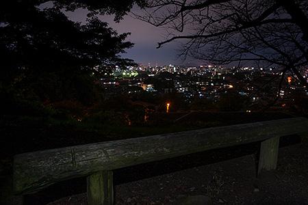 立田山配水池前の夜景