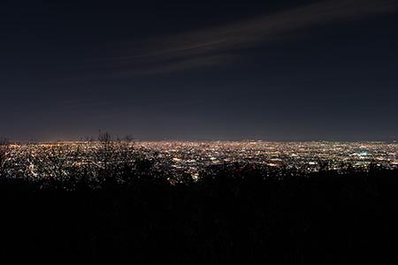 立石越え 信貴生駒スカイラインの夜景