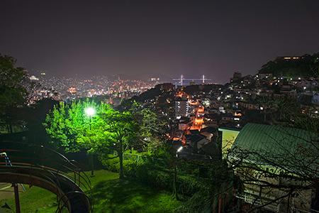 立山公園の夜景