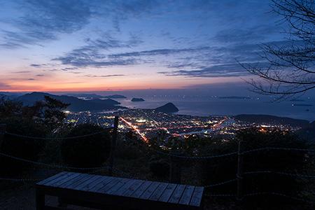 田床山の夜景