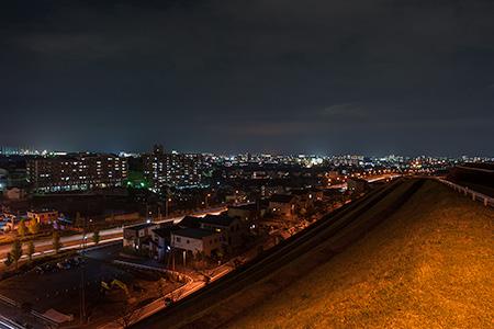 ビオトープ立田の杜 第二公園の夜景