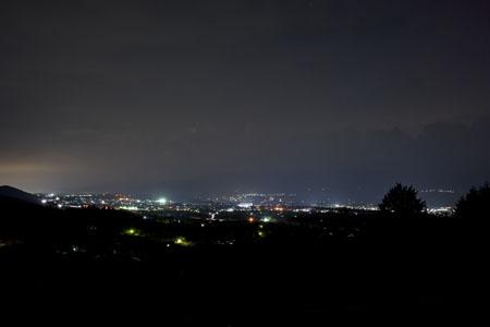 ハーモニックロード 田沢北展望所の夜景