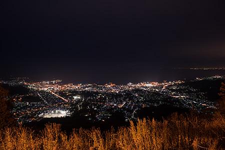 天狗山 第2展望台の夜景