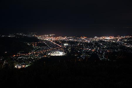 天狗山 天狗桜展望台の夜景