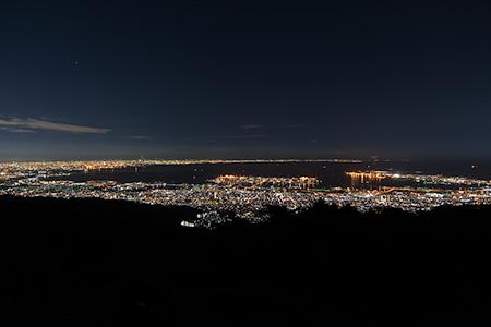 天狗岩の夜景