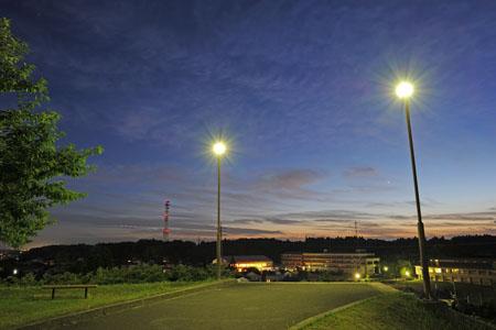 天神山公園の夜景