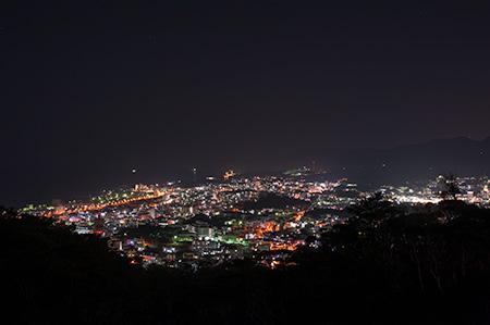 名護中央公園 天上展望台の夜景