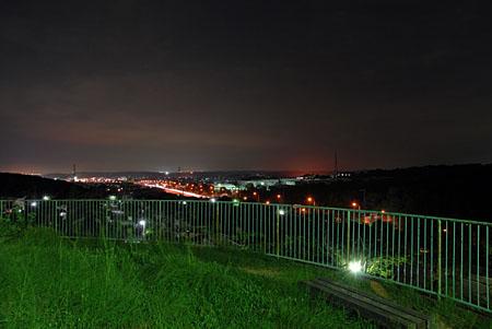 天王山北公園の夜景