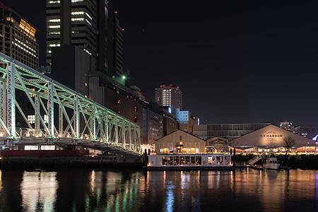 天王洲ふれあい橋の夜景