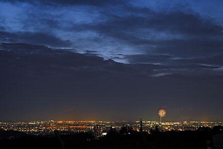 てっぺん丘の夜景