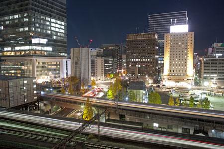 東京国際フォーラム ガラス棟ラウンジの夜景