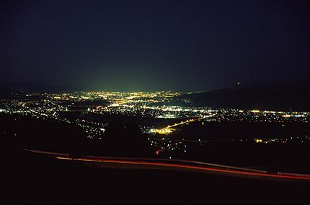千曲川展望公園の夜景