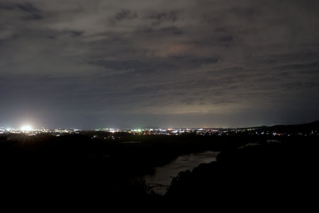 飛勢城趾の夜景