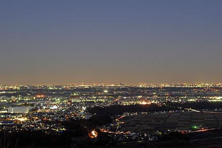 鳶尾山観光展望台の夜景