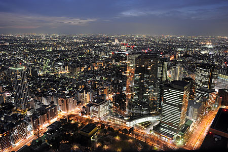 都庁 北展望室の夜景