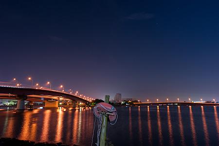 東海埠頭公園の夜景