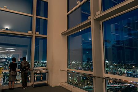 Befcoばかうけ展望室(朱鷺メッセ展望室)の夜景