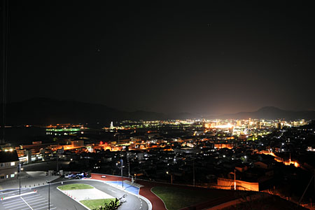 三原バイパス 時広ランプ近くの夜景