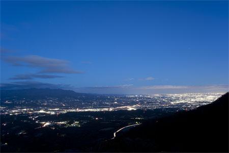上ノ山公園 ときめきデッキの夜景