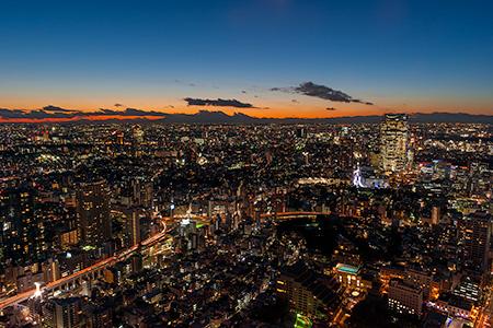 東京タワー トップデッキの夜景