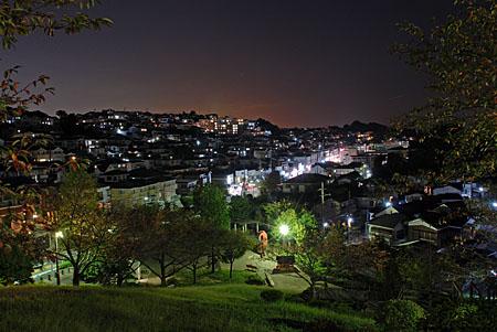 富岡西公園の夜景