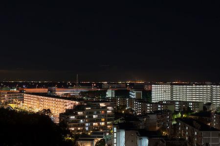富岡総合公園 見晴らし台の夜景