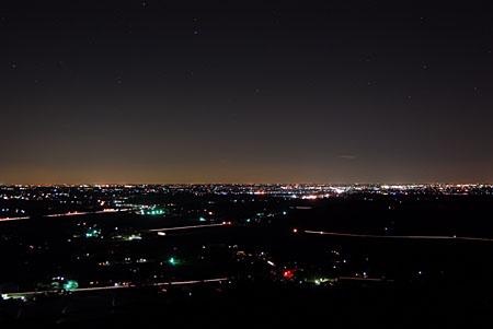 富谷ふれあいの森の夜景