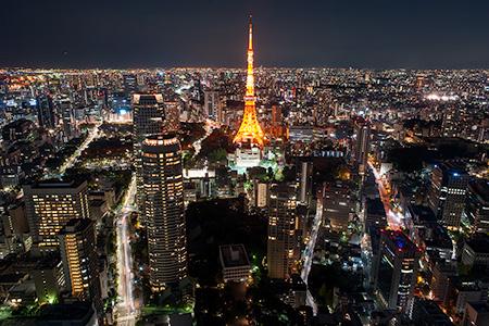 虎ノ門ヒルズの夜景