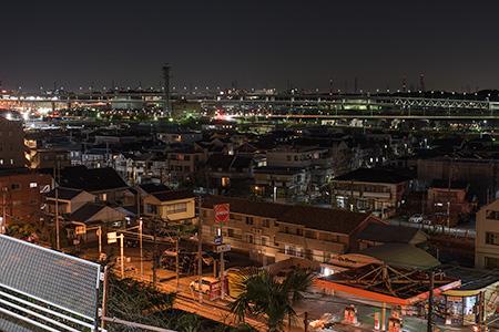 鳥山町の夜景