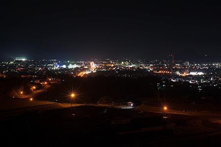 陶芸の村公園 展望広場の夜景