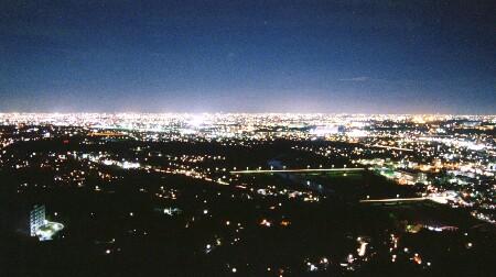 東谷山展望台の夜景