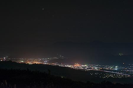 魚沼スカイライン 十日町展望台の夜景