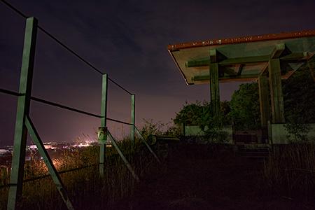 豊浜SA (下り)展望台の夜景