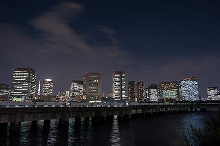 豊海水産ふ頭の夜景