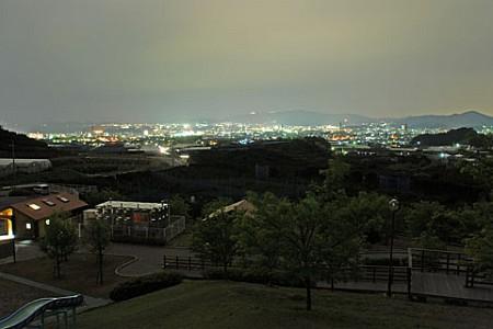 とよおか湖公園の夜景