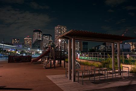 豊洲六丁目第二公園の夜景