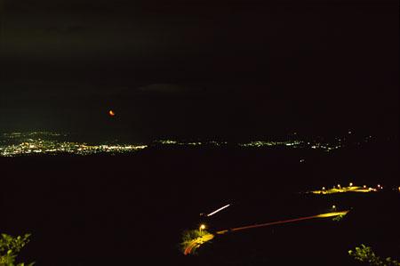 土湯バイパス 額取展望台の夜景