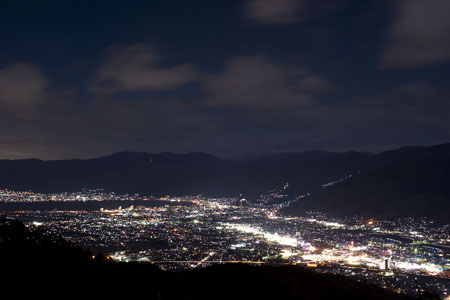 杖突峠の夜景