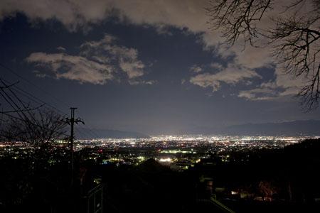 築山御崎公園の夜景