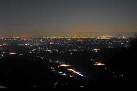 グライダー基地 表筑波スカイラインの夜景