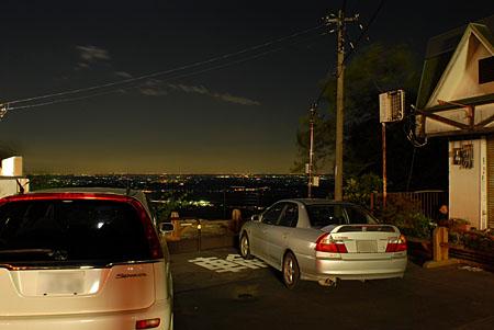 筑波山神社入口の夜景