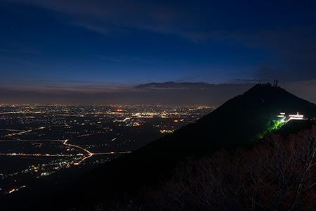 筑波山の夜景
