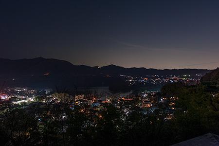 津久井湖城山公園 展望デッキの夜景