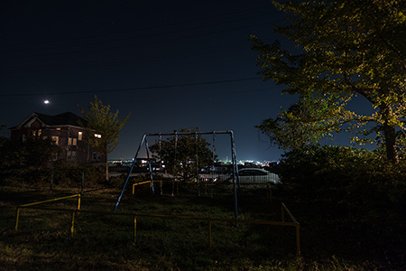 綱取公園の夜景