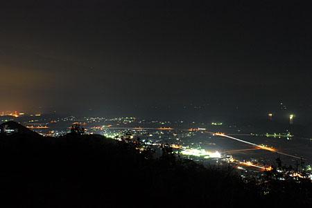 津峯スカイラインの夜景