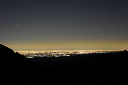 剣ヶ峰の夜景